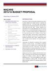 Mazars - Hong Kong budget 2015 / 2016 proposal
